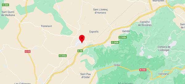 ubicación rutas visitas enoturismo juve y camps